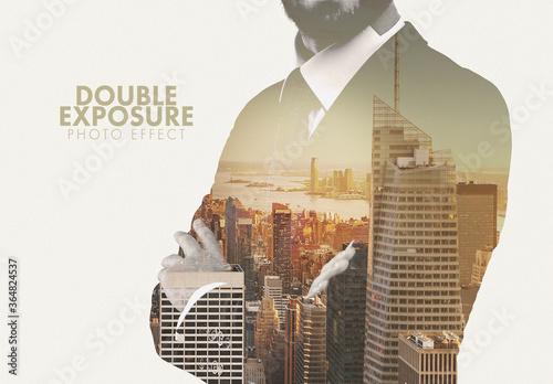 Obraz Masked Double Photographic Exposure Effect - fototapety do salonu