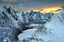 Winter Landscape, Flakstad, Lo...