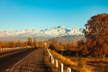 View Of Mountains With Road In...