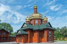 Small Log Church With Three Gi...