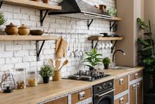 Kitchen With Modern Interior, ...