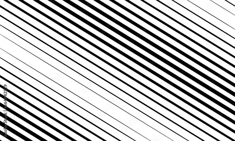 Fototapeta Patrón de diagonales negras con diferentes grosores.
