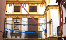 Historic House Facade With Yel...