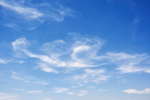 Blue Clean Sky With Light Clouds