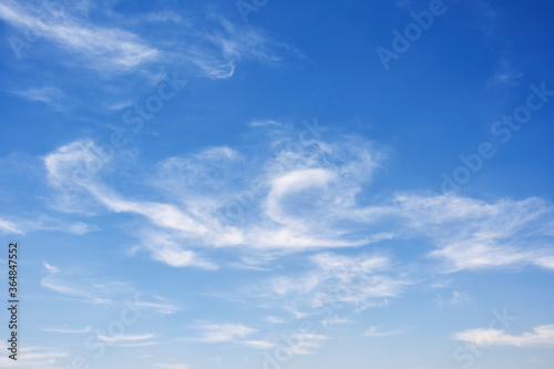 Blue clean sky with light clouds Canvas-taulu
