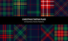 Christmas Tartan Plaid Set. Bl...