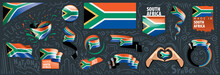 South Africa Flag, Vector Illu...