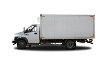 White Refrigerated Truck