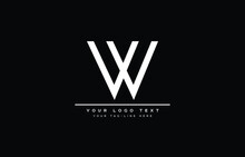 W Logo Design Concept With Bac...