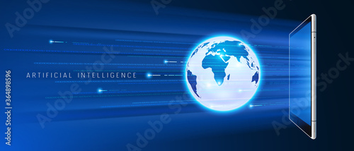 Artificial intelligence accessing global information and data in online networks Wallpaper Mural