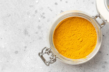 Turmeric In A Glass Jar On The...