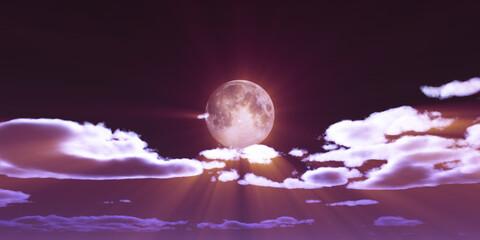 full moon at night night sky