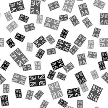 Black Flag Of Great Britain Ic...