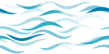 Seamless Wave Pattern, Hand Dr...