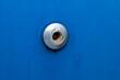 rivet on a blue metal background