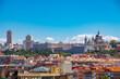 Skyline del Madrid con el palacio y la catedral