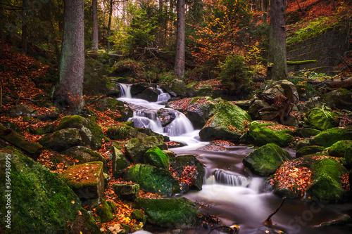 Obraz na plátně Ilsefall im Nationalpark Harz