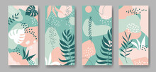 Set Of Four Vector Banners Wit...