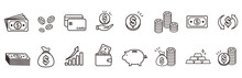 Money Coin Finance Icons Vector