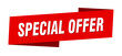 special offer banner template. special offer ribbon label sign