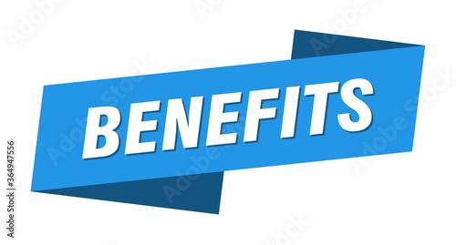 Fototapeta benefits banner template. benefits ribbon label sign obraz