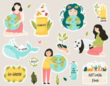 Set Of Colorful Stickers With ...
