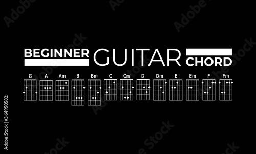 Basic Guitar Chord Tableau sur Toile