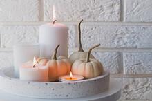 Autumn Home Decor With White P...