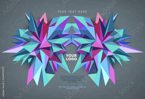 Abstract geometric asymmetric form design Wallpaper Mural