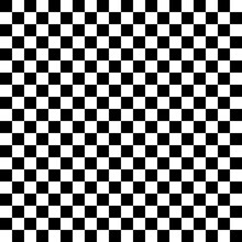 Black And White Checkered Abstract Background. Vector Illustration