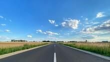 Road In Poland. Polish Village...
