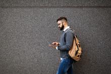 Businessman Walking In Street ...