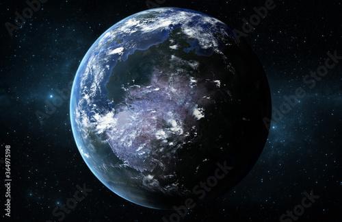 Obraz Ein Planet ähnlich wie Erde wo Leben geben kann - fototapety do salonu