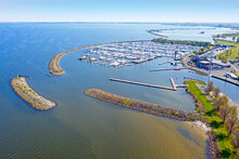 Aerial From The Harbor From Medemblik In The Netherlands