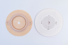 Ostomy Disks On White Background