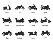Motorcycle Icon Vector Logo Te...