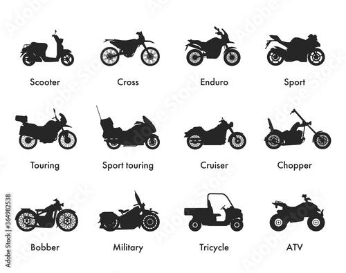 Obraz na plátně Motorcycle Icon Vector Logo Template