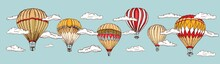 Hot Air Balloon Vintage Style....