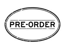 Grunge Black Pre Order Word Ov...