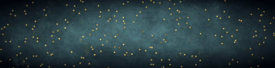 Christmas stars banner background