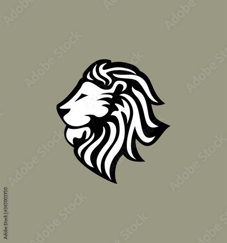 Fototapety, obrazy: Lion Head logo, Vector Illustration, simple flat style for your company logo