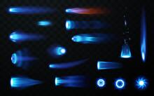 Jet Flame Set On Transparent Background