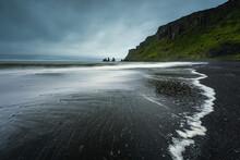 View Of The Black Beach In Vik...