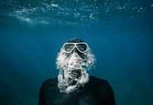 Free Diver In Crete