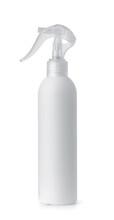 Side View Of White Plastic Trigger Spray Bottle