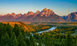 canvas print picture sunrise in the mountains