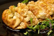 Fresh Gyoza Dumplings With Soy...