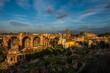 Panorama Forum Romanum, koniec słonecznego dnia