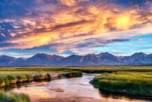 Owens River Amazing Sunset Lan...