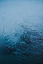 Ice Crystals On Frozen Window